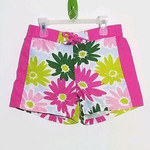 Gymboree Floral Board Shorts 6